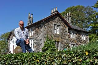 Guy Fenton outside Craigmakerran House